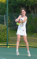 Rachel Lowen made the A Varsity this year and played #1 Middle School Tennis!