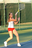 Victoria Loeb from Canada played number #3 Singles and #2 Doubles