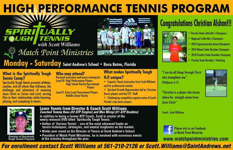 High Performance Tennis Program